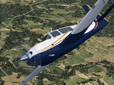 Mooney Acclaim G1000 in flight.