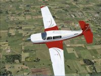 Mooney Acclaim G1000 in flight.