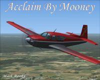 Mooney Acclaim in flight.