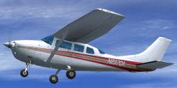 Carenado Cessna U206G in flight.