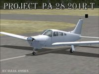 Piper PA28-201 on runway.