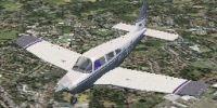 Piper Archer III PA28-181 in flight.