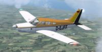 Piper Arrow III in flight.