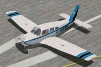 Piper Turbo Arrow III PA28RT-201 on runway.