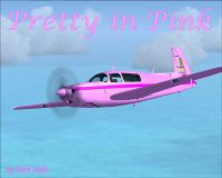 Pretty In Pink Mooney in flight.