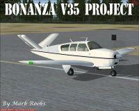 Project V35 Bonanza on runway.