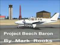 Project Beech Baron on runway.
