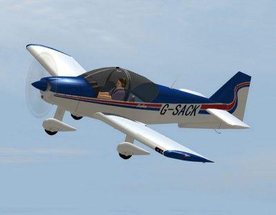 Robin SACK 800 in flight.