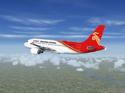 Shenzhen Airlines Airbus A319 And A320 in flight.