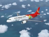 Shenzhen Airlines Airbus A320 in flight.