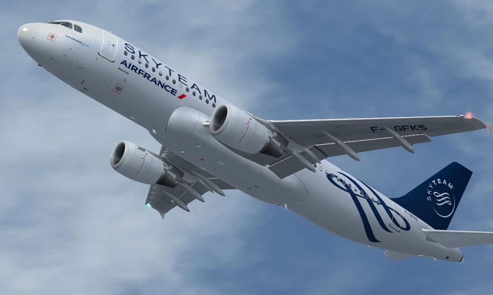 Skyteam air france airbus a320 211 for fsx for Airbus a320 air france interieur