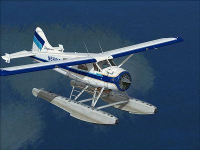 Taquan Air DHC-2 Beaver in flight.