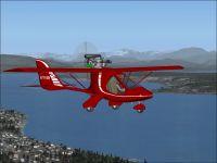 Ultralight Interplane Skyboy in flight.