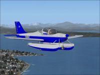 Ultralight Tecnam Sierra Amphib in flight.