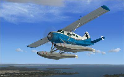 Vancouver Island Air DeHavilland Beaver in flight.