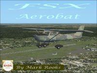 Woodland Camo Cessna 150 Aerobat in flight.