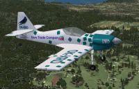 Zlin-50LS Sky Box Team OK-XRD in flight.