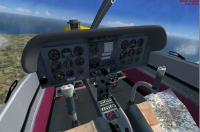 View from cockpit of Zlin Z-142.
