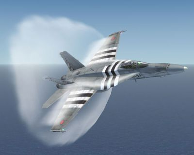 CAF/RCAF F/A-18 441 Sqn breaking the sound barrier.