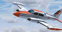 CEV Cessna C310R in flight.