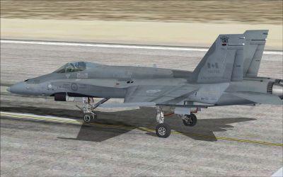 CF-18 416 Sqn on runway.