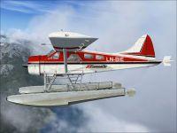 DHC-2 Beaver LN-BIE in flight.