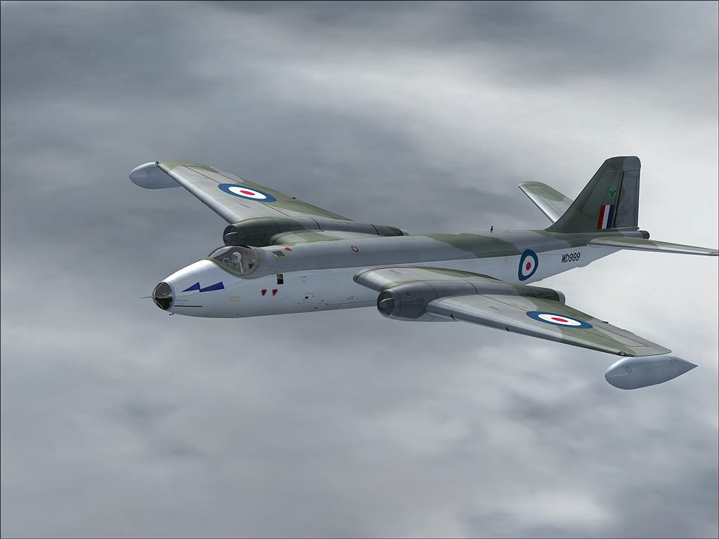 ee Canberra Wd999 in Flight