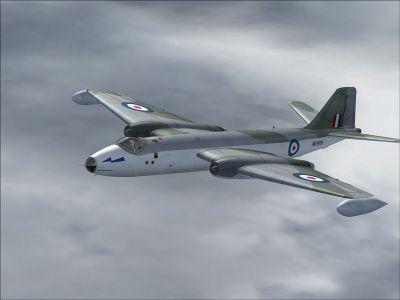 EE Canberra WD999 in flight.