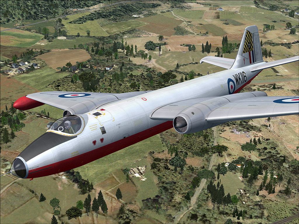 ee Canberra Wk116 in Flight