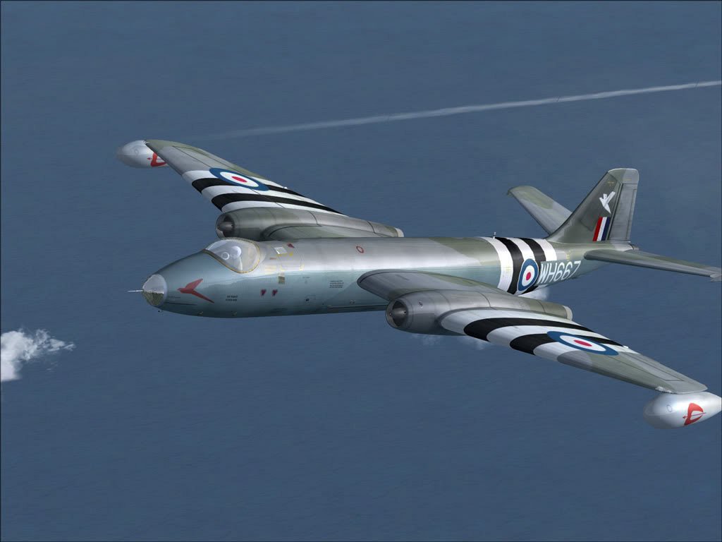 ee Canberra Wt667 in Flight