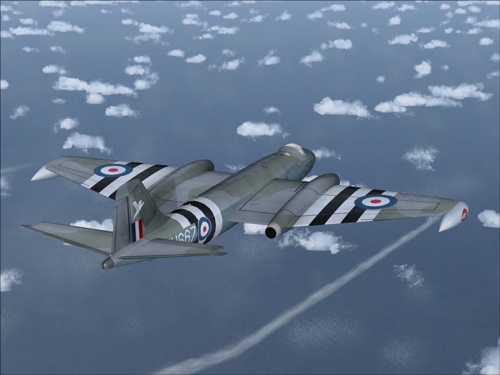 ee Canberra Wt667 in Flight
