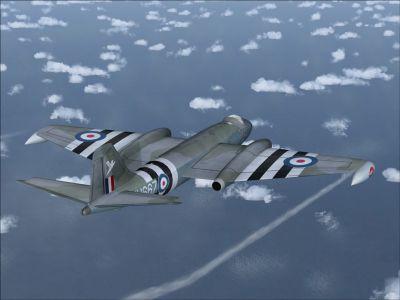 EE Canberra WT667 in flight.