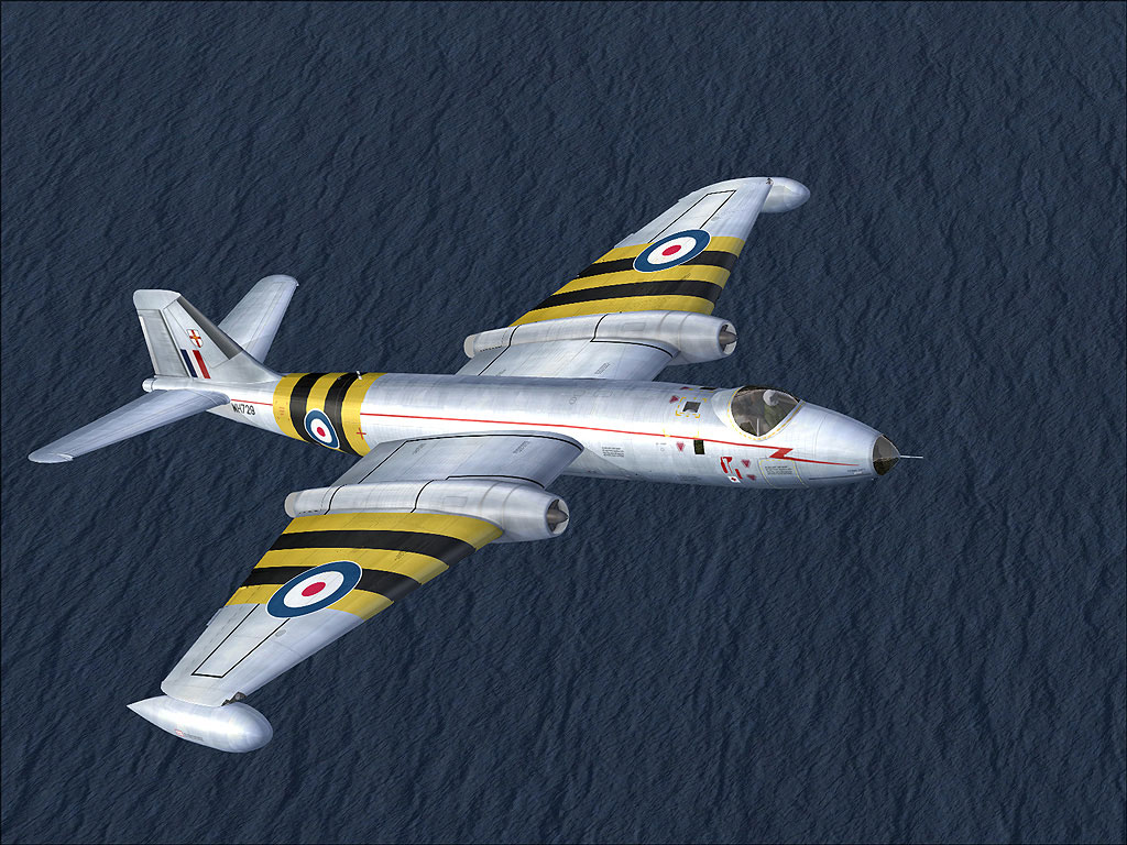 ee Canberra Wt729 in Flight