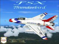 F-100 Thunderbird in flight.
