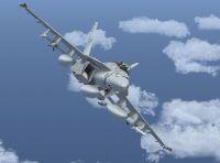 FA-18E in flight.