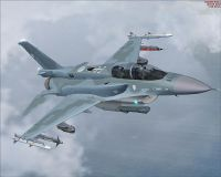 FACH F-16D Fighting Falcon in flight.