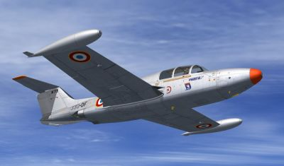 FAF MS760 Paris No.73 in flight.