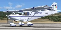 I.C.P. Savannah UltraLight on runway.