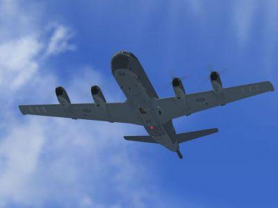JMSDF Lockheed/Kawasaki P-3C in flight.