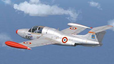 MS760 Paris No. 65 in flight.