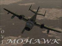 OV1 Mohawk Woodland Camo in flight.