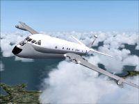 RAF BAE Nimrod MR.1 in flight.