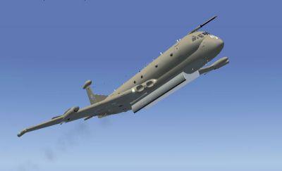 RAF BAE Nimrod MR2 in flight.