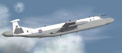 RAF BAe Nimrod AEW in flight.