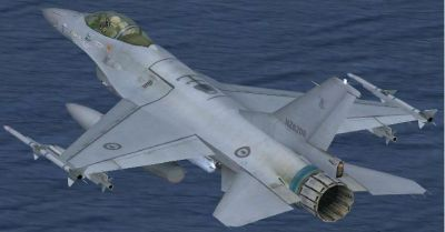 RNZAF F-16 Viper in flight.