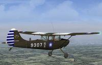 ROC (Taiwan) Army Cessna O-1G Bird Dog in flight.