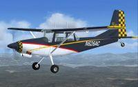 SIAI Marchetti SM 1019 in flight.