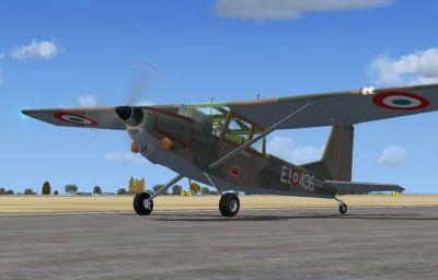 SIAI Marchetti SM 1019 on runway.