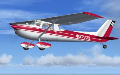 SP2 Cessna 150 in flight.