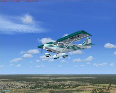 US Savannah in flight.
